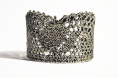 Statement cuff antique plated lace bracelet Retro by MyElesi Antique Plates, Antique Silver, Lace Bracelet, Cuff Bracelets, Lace Cuffs, Metal Jewelry, Silver Earrings, Plating, Retro