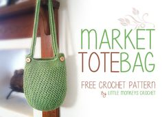 Market Tote Bag Free Crochet Pattern | by Little Monkeys Crochet, thanks so xox