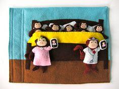 Five Little Monkeys Quiet Book Page   Imagine Our Life