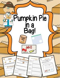 Pumpkin Pie in a Bag!{Science, Literacy & Craftivity} - Engaging Lessons | CurrClick