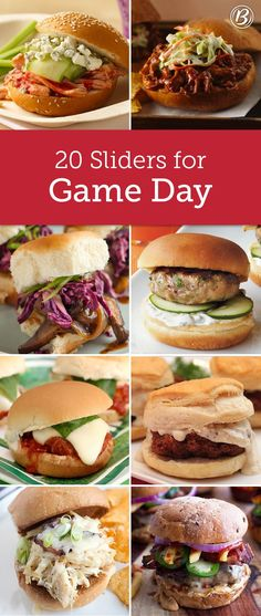Nothing says game day like some yummy handheld sliders. From pulled pork classics to spicy peanut butter bacon creations, we've got every slider and sammie you need to host the best tailgate party ever.
