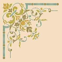 Our Victorian Ceiling CornerStencilsadds a traditional design to light fixtures or complements a European style living room, dining room, or entry.You can al