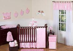Sweet Jojo Designs Pink Chenille and Satin Baby Girl Bedd... https://www.amazon.com/dp/B019J2D1UK/ref=cm_sw_r_pi_dp_LRxBxb8GES2SE