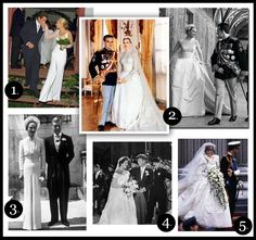 famous and iconic brides and some of the most famous wedding dresses of all time (via www.wendyandbriantietheknot.wordpress.com) #wedding #dresses