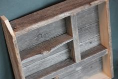 reclaimed barnwood shadow box. 22.00, via Etsy.