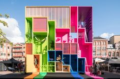 MVRDV's Vibrant, Reconfigurable Hotel for Dutch Design Week | Architect Magazine | Projects, Small Projects, Residential Projects, Eindhoven, Netherlands, MVRDV