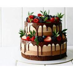 22 Ideas Fruit Cake Cupcakes Baking For 2019 Food Cakes, Cupcake Cakes, Oreo Cupcakes, Cake Fondant, Sweets Cake, Fruit Wedding Cake, Wedding Cakes, Chocolate Desserts, Cake Chocolate