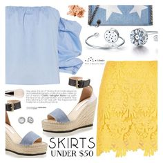 """Skirts Under $50"" by totwoo ❤ liked on Polyvore featuring River Island, Bardot, See by Chloé, STELLA McCARTNEY, Michael Kors, Bobbi Brown Cosmetics and MAC Cosmetics"