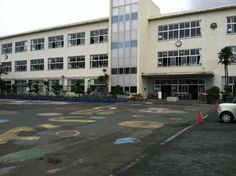 A typical Japanese school ... Not pretty on outside, but offers an incredible educational experience inside! Just opposite in the US ... Beautiful landscaped state of the art schools filled with near-illiterate youth! Where did we go wrong???
