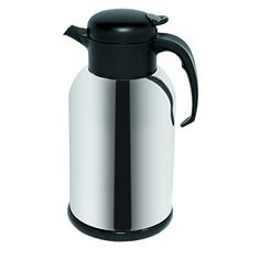 Service Ideas H100ch Modern Gllined Carafe Vacuum Insulated 1 Liter 338 Oz Chromeblack Accents To