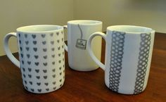 Mug markers - these were drawnwith Sharpie so can't be used for food, but you could use a glass or ceramic pen or paint that would be food-useable. Great great gift!