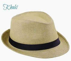 Fashion Hats for Women Fedora Trilby Gangster Cap Summer Beach Sun Straw Panama Hat with Ribbow Band Sunhat Fedora Hat Women, Fedora Hats, Trilby Hat, Wide Brim Sun Hat, Sun Hats For Women, Visor Hats, Hats Online, Cute Hats, Summer Hats