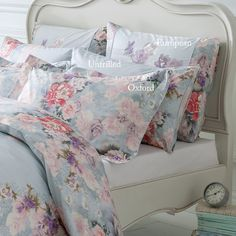 Dorma Kimono Pillow Cases.  Beautiful floral and duck egg pillow cases :)