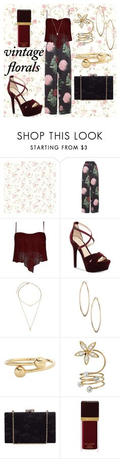 """vintage florals 🌸🌸"" by cecilvenekamp ❤ liked on Polyvore featuring Voodoo Vixen, Jessica Simpson, Lydell NYC, J.W. Anderson, Tom Ford and vintage"