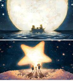 La Luna, by Pixar, directed by Enrico Casarosa. Art by Robert Kondo I love this short & it is so magical & awe-inspiring