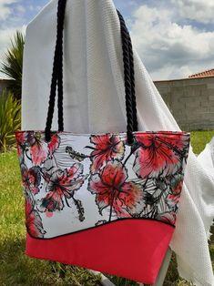 Sac Samba cousu par Blandine - Toile imperméable- Patron cabas estival Samba de Sacôtin