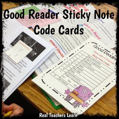 code cards for guided reading - super easy to use and not a lot of prep!