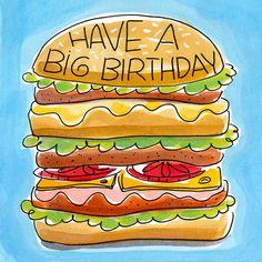 Kaart - Burger Birthday - Greetz