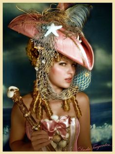 I love the sea/mermaid/steampunk thing going on here! Steampunk Pirate, Gothic Steampunk, Steampunk Fashion, Steampunk Costume, Larp, Pirate Garb, Pirate Wench, Cyberpunk, Pirate Wedding