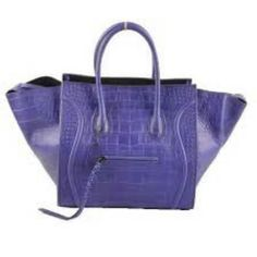 Celine Bag in blue lavander crocskin
