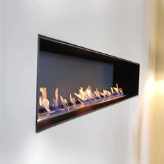 Bio Ethanol Fires of Outstanding Quality. Fuelled with bio ethanol a clean renewable energy so you can have the beauty of an open fire without a flue. Mounted Fireplace, Fireplace Inserts, Fireplace Wall, Living Room With Fireplace, Fireplace Mantels, Fireplaces, Biofuel Fireplace, Bioethanol Fireplace, Modern Fireplace
