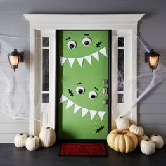 Give new meaning to monster madness with this fun and trendy door décor.