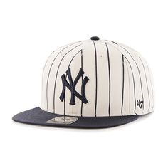 New York Yankees Pinstripe Captain Natural 47 Brand Adjustable Hat