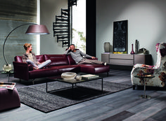 The Tenore Rosso from Natuzzi Italia. Even a single Marsala piece can change any room.