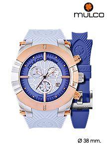 Reloj multiesfera Mulco Watches analógico con mecanismo de cuarzo y dos correas de silicona intercambiables. Reloj de diseño fashion para hombre y mujer. Más colores disponibles en la web.