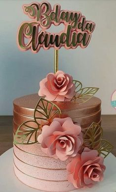 Nutella Birthday Cake, Birthday Cake Roses, 15th Birthday Cakes, Creative Birthday Cakes, Beautiful Birthday Cakes, Birthday Cake Girls, Gorgeous Cakes, Candy Theme Birthday Party, Fiesta Cake