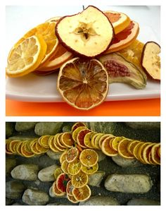Dried Fruit Garland, Wreath and Ornaments!