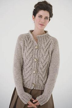 Ravelry: Branching Cable Cardigan pattern by Teva Durham