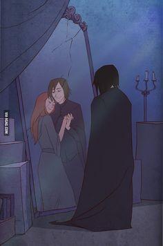Severus Snape y Lily Evans Harry Potter Anime, Harry Potter Fan Art, Harry Potter World, Harry Potter Star Wars, Estilo Harry Potter, Fans D'harry Potter, Mundo Harry Potter, Harry Potter Universal, Harry Potter Memes
