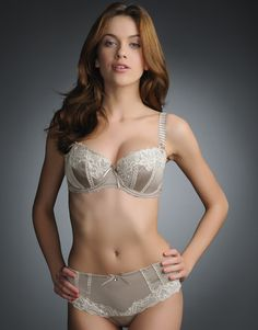 Fauve Veronique Padded Bra Oyster -- Adore. the. lines.