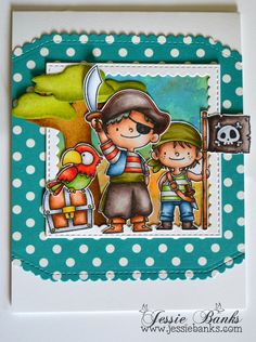 Hey everyone! Today I have a card to share using the MFT – Party Like a Pirate stamp set. I created this card to participate in the MFT Card Challenged – Sketch Challenge #341.