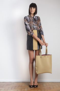 #gverri #gverristore #moda #fashion #inverno2013 #camisa #estampada #saia #neoprene #couro
