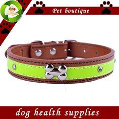 Personalisierte Kristall Verzierten Reflektierende Hundehalsband Pu-leder Halsbänder Für Hunde Halskette Pet Produkte Für Tiere