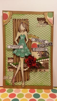 A prima doll stamp layout - text stamps from Prima Prima Paper Dolls, Prima Doll Stamps, Book And Frame, Paper Art, Paper Crafts, Diy Doll, Doll Crafts, Steampunk, Beautiful Handmade Cards