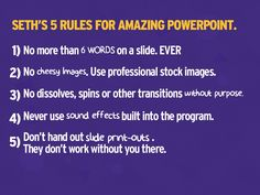 Fix Your Really Bad PowerPoint by @slidecomet : based on an ebook by @ThisIsSethsBlog