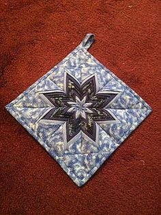 Quilted Folded Star Pot Holder
