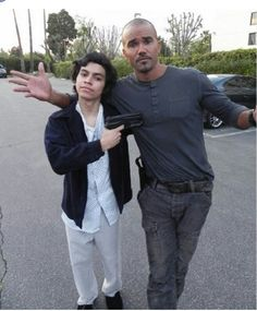 Derek Morgan and Angel. A victim that escaped from the unsub after being a captive for over 10 yrs. #CriminalMinds