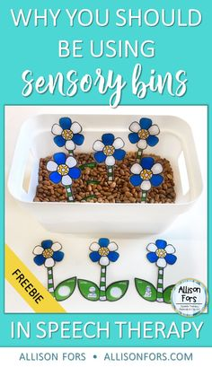 Why you should be using sensory bins in speech therapy and your classrooms! Plus, a sensory bin activity freebie!