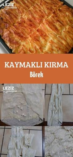 Kaymaklı Kırma Börek Pizza Pastry, Savory Pastry, Turkish Kitchen, Turkish Cuisine, Aleppo Pepper, Turkish Sweets, Fish And Meat, Fresh Fruits And Vegetables, Iftar