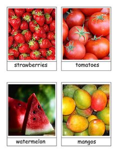 fruit cards (veggies also here)