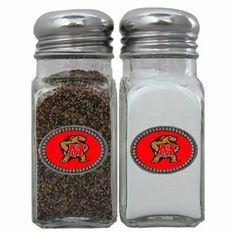 Maryland Terrapins Salt & Pepper Shaker Set by Siskiyou. $24.99. Our collegiate salt and pepper set is a great addition to any tailgating event or backyard BBQ.