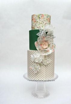 Stevi Auble's Wafer Paper Bow Cake
