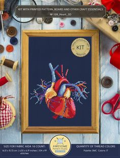 It is a cross-stitch KIT for Heart 3d. If you need the pdf pattern only, it is available here: https://www.etsy.com/listing/554233289/heart-3d-cross-stitch-pattern-for?ga_search_query=heart&ref=shop_items_search_4 KIT #1 INCLUDES: ⇒ A4 format (210 x 297 mm - 8.3 x 11.7 in) cover
