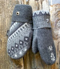 Winter Grey The Original Muttons Handmade Wool by MuttonsMittens, $39.00