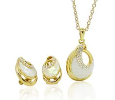 Set bijuterii placate cu aur. www.bodyandbijoux.ro