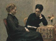 Fantin-Latour - La lecture  1877  (MUSÉE DES BEAUX-ARTS DE LYON/ALAIN BASSET)